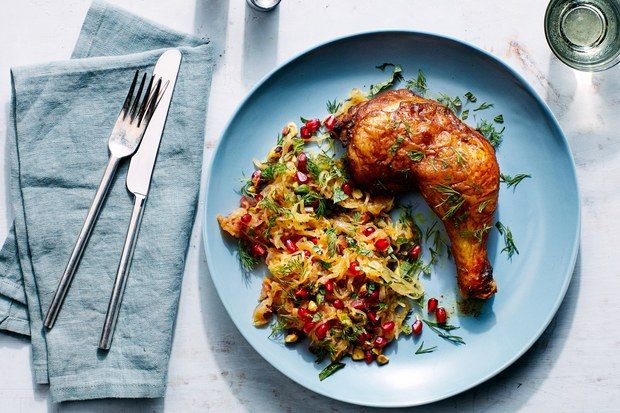 ep_01192016_persian_chicken_with_spaghetti_squash_pomegranate_and_pistachios